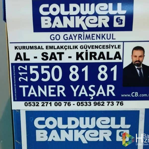 coldwell banker afiş baskı çeşidi